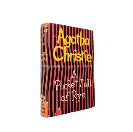 A Pocket Full of Rye by Agatha Christie First Edition Published for The Crime Club by Collins 1953A